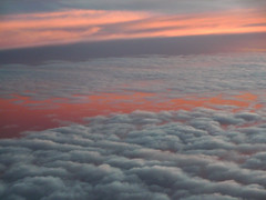 Clouds at sunset ca. 11000 m Altitude (betadecay2000) Tags: sunsetca11000maltitude indianoceannearsingapore sunset sun clouds wolken wolke flug flugzeug boeing 11000 hhe stratosphre tropospause outdoor ozean wasser himmel