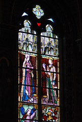 Prince and princess in stained glass (quinet) Tags: 2014 belgium bruges ghent glasmalerei stainedglass vitrail antwerp flanders