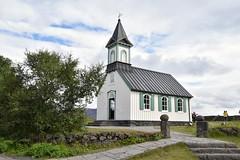 Thingvellir Church (EC@PhotoAlbum) Tags: islanda iceland goldencircleiceland goldencircle thingvellirnationalpark thingvellir church kirkja chiesettaislandese panorama landscape paesaggio