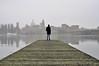 Losing the Way (ChiaraAgnese) Tags: landscape nature man guy boy young water river italy mantua fog skyline nikon d90 nikond90 digital