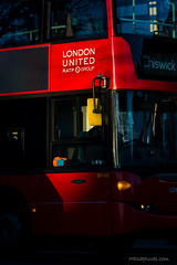 London red (mdcaptures) Tags: red bus london e3 ealing public transport tfl fuel united ratp chiswick commuter