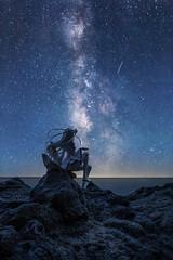 When You Wish Upon a Star (Ateens Chen) Tags: nikon d810 afsnikkor20mmf18ged longexposure sea portrait starrysky milkyway shootingstar ateens