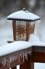 It's Cold Out There [Bancroft - 30 December 2015] (Doc. Ing.) Tags: 2015 canada ontario on winter northamerica bancroft snow ice lantern icicle icicles metal iron detalhesemferro irondetails