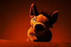 021-The Smell of Blood (Univaded Fox) Tags: shenzi hyena the lion king plush disney store photography experiment dramatic lighting filters photoshop univaded