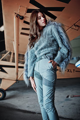 The Aviatress II (Camille Marotte) Tags: 2016 argentina natalia ostrofsky beauty fashion plane airplane haute couture hangar portrait face model models hair sexy concrete metal light natural indoor canon sigma 1dc 35mm woman girl aviator style yellow camillemarotte fabric editorial art