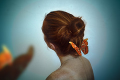 (Heather-B) Tags: butterfly butterflies blue orange portrait redhead redhairs ginger freckes fineart fine art photomanipulation manipulation photoshop dream magic world canon photography photographer light amazing inspiration