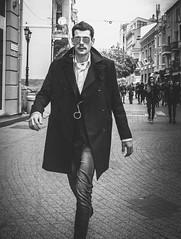 Street style... (Mirslav Hristff) Tags: street streetphotography sony plovdiv bulgaria blackwhite blackandwhite boy onthestreet 35mm slt fashion editorial walker glasses