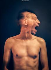 Trapped inside (Jamal Benamer) Tags: 1855mm 450d trapped canon conceptual dark depression emotions longexposure longing love pain portrait sadness scream sorrow