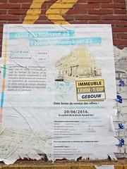 Gentrification ahead (Antropoturista) Tags: belgium bruxelles brussels brüssel poster official documet torn semiotics molenbeek gentrification