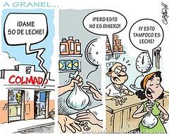 Engano a granel (Caricaturascristian) Tags: engao granel leche pobreza pro consumidor suero lacteo desnutricin comercio nutrientes