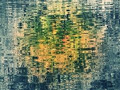 Garrison Forest ~ pond sliding (karma (Karen)) Tags: garrisonforest owingsmills baltimoreco maryland ponds reflections selectcolor sliderssunday hss iphone topf25