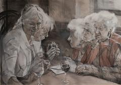 DSC_8045+web (jiri.metod) Tags: mixedmedia charcoal conte chalk acryl paper people woman