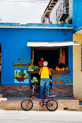 El Complaciente (Simone Della Fornace) Tags: cuba cuban trinidad shop street streetphotography candid blue fruit bike bicycle sony a7rii outdoor reportage