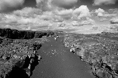 KLIS3466_S (Konrad Lembcke) Tags: miðlína continent bridge iceland island brücke kontinente travel black white landscape fuji x landschaft minimal abstract monochrome nature simple