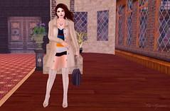 Night out <3 (msblairwaldorf) Tags: second life fashion blog blogger ohmygoddess erratic phedora coat winter elegant style