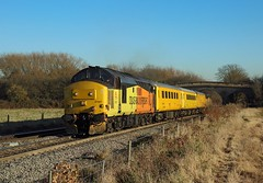 37421, Stenson Bubble, 29 Nov 2016 (Mr Joseph Bloggs) Tags: colas 37 37421 37219 219 421 stenson derby rtc tyseley 1q48 test train treno bahn railway railroad english electric 3 bubble rail