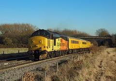 37421, Stenson Bubble, 29 Nov 2016 (Mr Joseph Bloggs) Tags: colas 37 37421 37219 219 421 stenson derby rtc tyseley 1q48 test train treno bahn railway railroad english electric 3 bubble rail