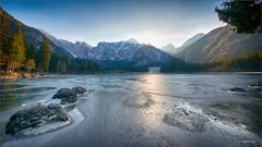 Il sole se ne va. (valpil58) Tags: fusine lago lake mangart panorama landscape friuli tarvisio hdr nikond800 sigma1224mmii
