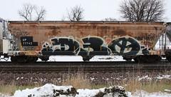 D30 (quiet-silence) Tags: graffiti graff freight fr8 train railroad railcar art d30 dirty30 hopper up unionpacific up77742