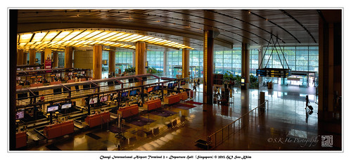 Changi International Airport Terminal 2 :: Departure Hall  (Singapore) <Panorama>