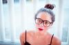 (Isai Alvarado) Tags: park street red urban woman cinema blur film girl look fashion 35mm hair movie glasses model eyes nikon focus dof bokeh stock hipster cine lips paty cinematic dx porrait d7000