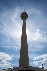 Berlin TV Tower (Ville Ikonen) Tags: blue sky panorama berlin tower germany tv high tourist sight