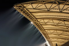 Kashiwanoha Park Stadium (Matthias Harbers) Tags: park roof light sky japan night photoshop stadium sony chiba labs dxo lamps topaz kashiwa kashiwanoha rx100 kashiwanohaparkstadium