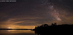 A Night Scene (Altamish Osman Photography) Tags: sky lake night forest way shower nikon clean clear national waters lightning milky wi meteor lak gilman chequamegon wisconson d600 flowage perseids