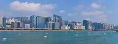 (Teddy Leung) Tags: sea building canon river hongkong bluesky kowloon kowloonbay kaitakcruiseterminal canoneosm canonefm1855mmf3556isstm buninessbuilding