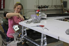 "Becky helps prepare bolt holes • <a style=""font-size:0.8em;"" href=""http://www.flickr.com/photos/27717602@N03/9690053846/"" target=""_blank"">View on Flickr</a>"