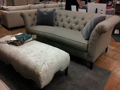 Bridgeport Tufted sofa (Brian's Furniture) Tags: leather bench norwalk or seat sofa fabric button tufted bridgeport cushions contrasting pleating 85l 38d 34h