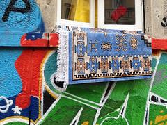 Patchwork (stordito) Tags: street art window carpet graffiti mix strada colours finestra dices dadi colori tappeto pathwork mmportagenova