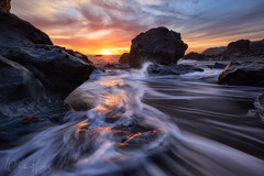 Sirens of the Sea (Willie Huang Photo) Tags: ocean california sunset sea seascape beach nature landscape coast sand rocks waves pacific scenic californiacoast