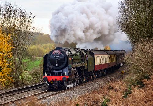 70000: Cathedrals Express (geoffspages) Tags: geotagged shropshire railway steam britannia stokesay 70000 geo:lat=5242135504799796 geo:lon=2827560603618622