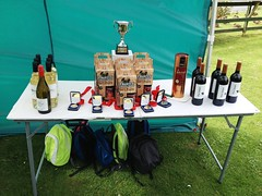 The well-deserved prize table
