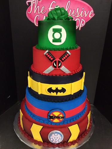 superhero grooms cake hero cake