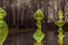 2013-12-27 Spooky figures (Ralph on and off) Tags: longexposure trees light lightpainting color reflection tree nikon tripod afterdark slowshutterspeed withoutflash longexposuretime longexposurephotography nikond300 thephotographyblog