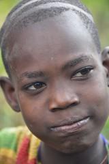 Surmi Boy, Ethiopia (Rod Waddington) Tags: africa portrait hair village native african traditional tribal omovalley ethiopia tribe ethnic surma ethiopian surmi tulgit