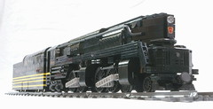 Shark of the Pennsylvania Railroad (SavaTheAggie) Tags: railroad train lego pennsylvania engine trains steam creation duplex locomotive streamlined snot own rebuild t1 reconstruction streamline prr streamliner moc 4444 my