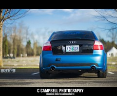 Audi Nikon D600 Photoshoot (C. Campbell) Tags: blue sky cars car oregon nikon paint shot cloudy or wrap racing tokina eugene rig audi tamron skys autzen d600 rokinon jdmyo facebookcomccampbellphoto