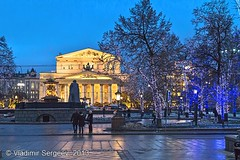 Moscow winter. Bolshoi Theatre (wws001) Tags: christmas winter holiday night square lights evening december theatre russia moscow capital illumination newyear metropolis newyears column russian quadriga rusland bolshoi moscowregion theaterarea