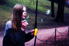 Sofie (juliakalvik) Tags: girls girl smile happy soap creative happiness bubbles blow fantasy bubble wonderland