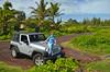 Sylwia on the hood (malinowy) Tags: road trip winter usa hawaii us nikon holidays unitedstates jeep roadtrip pahoa hood hi bigisland nikkor zima thebigisland puna wrangler 1870 sylwia wakacje hawaiianislands malinowy d7000 malinowynet pāhoa