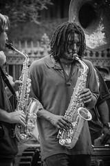 improve (mduckitt) Tags: street vacation music holiday tourism public musicians square louisiana performance jazz jackson enjoy frenchquarter nola spectators stlouiscathedral exuberant