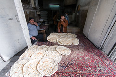 Baker and son (Zalacain) Tags: city urban bread person baker middleeast syria worker damascus