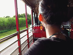 earring (imnOthere0) Tags: travel portrait bus girl beauty sunshine neck earring ring guam  lamlam imnothere0