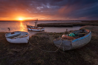 Three boats - Slaughden, Suffolk