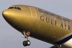 Gulf Air Airbus A330 A9C-KC (Perfect Moment Images) Tags: london canon airport cross heathrow air landing final short airbus myrtle avenue a330 lhr hatton guld arriving egll 100400l 60d 27l a9ckc