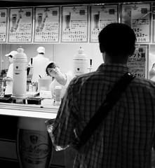 DSCF1045_S (Konrad Lembcke) Tags: world life road street trip travel people bw white black art beer glass japan bar night lens photography pub asia fuji outdoor documentary oktoberfest hiroshima journey local sreet fujinon x100s