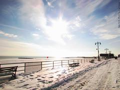 Coney Island/Brighton Beach (The diary of Blue Shoes!) Tags: ocean city nyc sunset sky people usa sun snow newyork nature water birds america coneyisland fire photography pier amazing community shadows dusk manhattan amusementpark states russians    littlerussia   littleodessa
